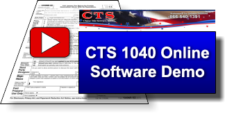 CTS 1040 online software demo